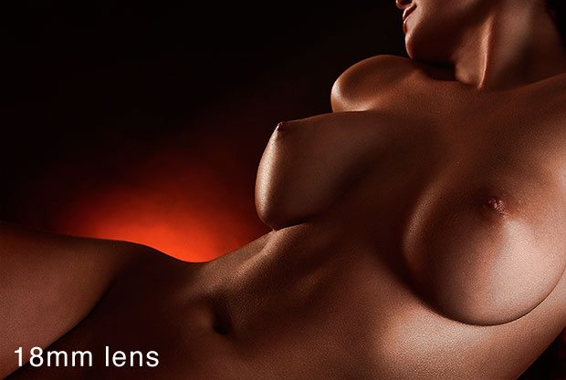Nude shot with a wide angle lens