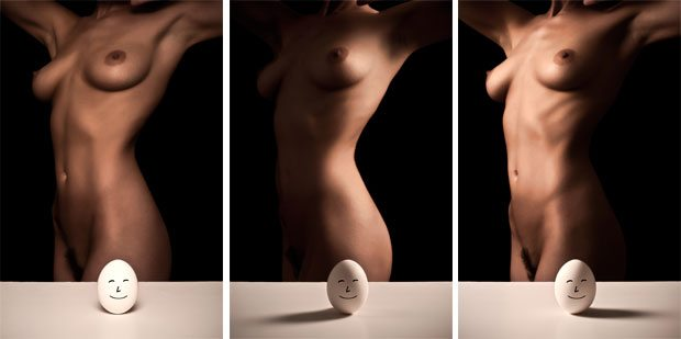 The Egg and The Nude share the same shapes and textures