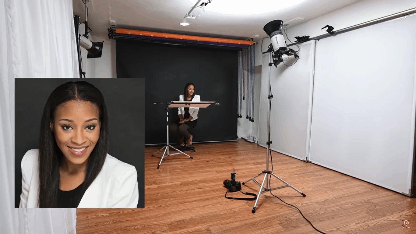 One light portrait lighting Setup 2, black background