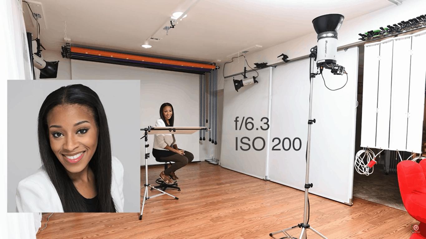 One light portrait lighting setup 3