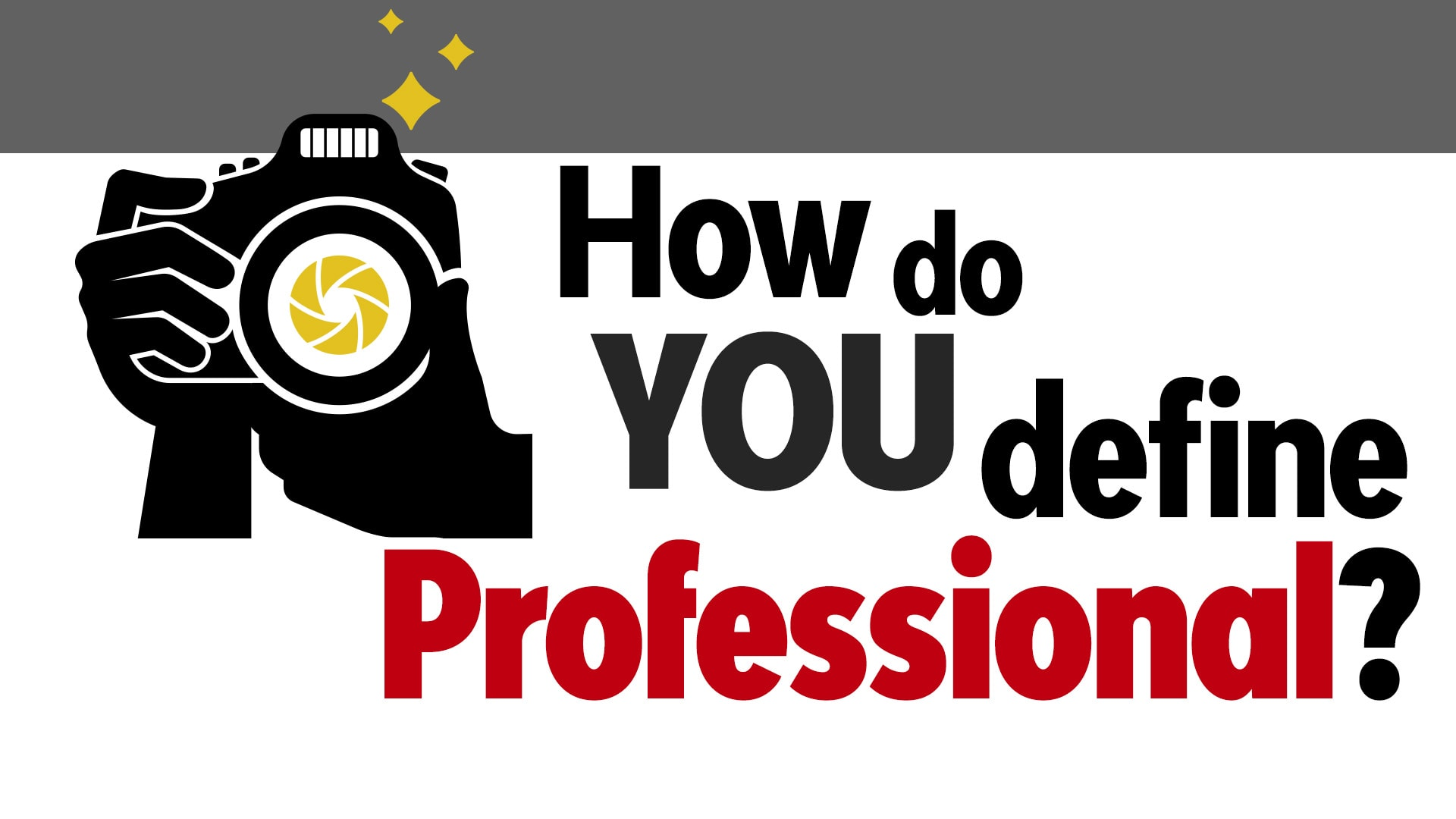 Photo of What does it mean to be a professional photographer?