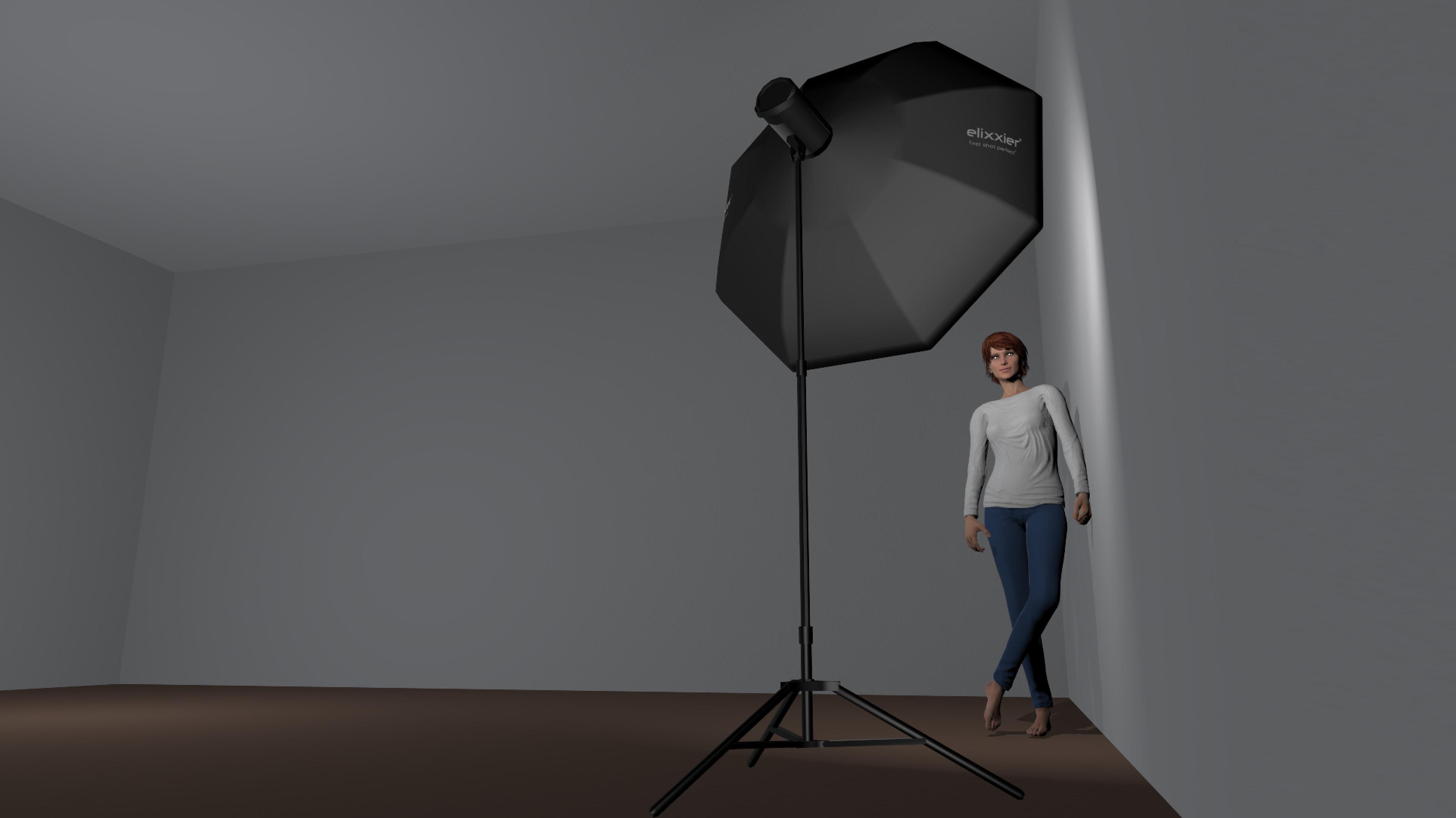 Casual portrait Lighting Setup One