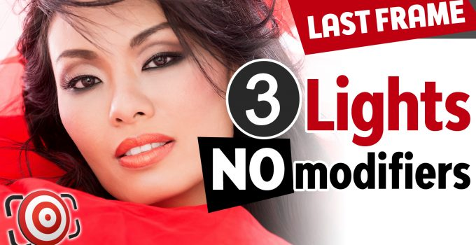 Three Light no modifier beauty lighting setup title image