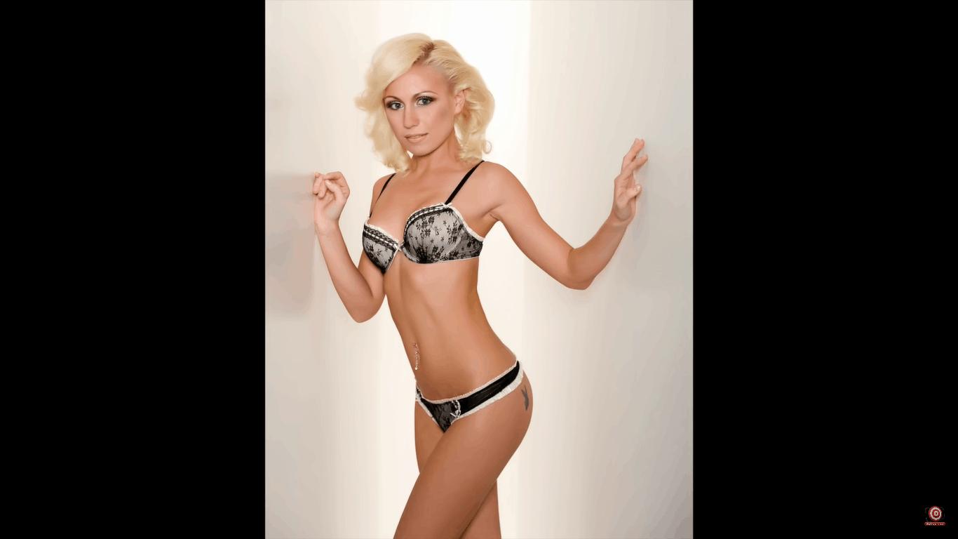 Glamour shot of model in lingerie
