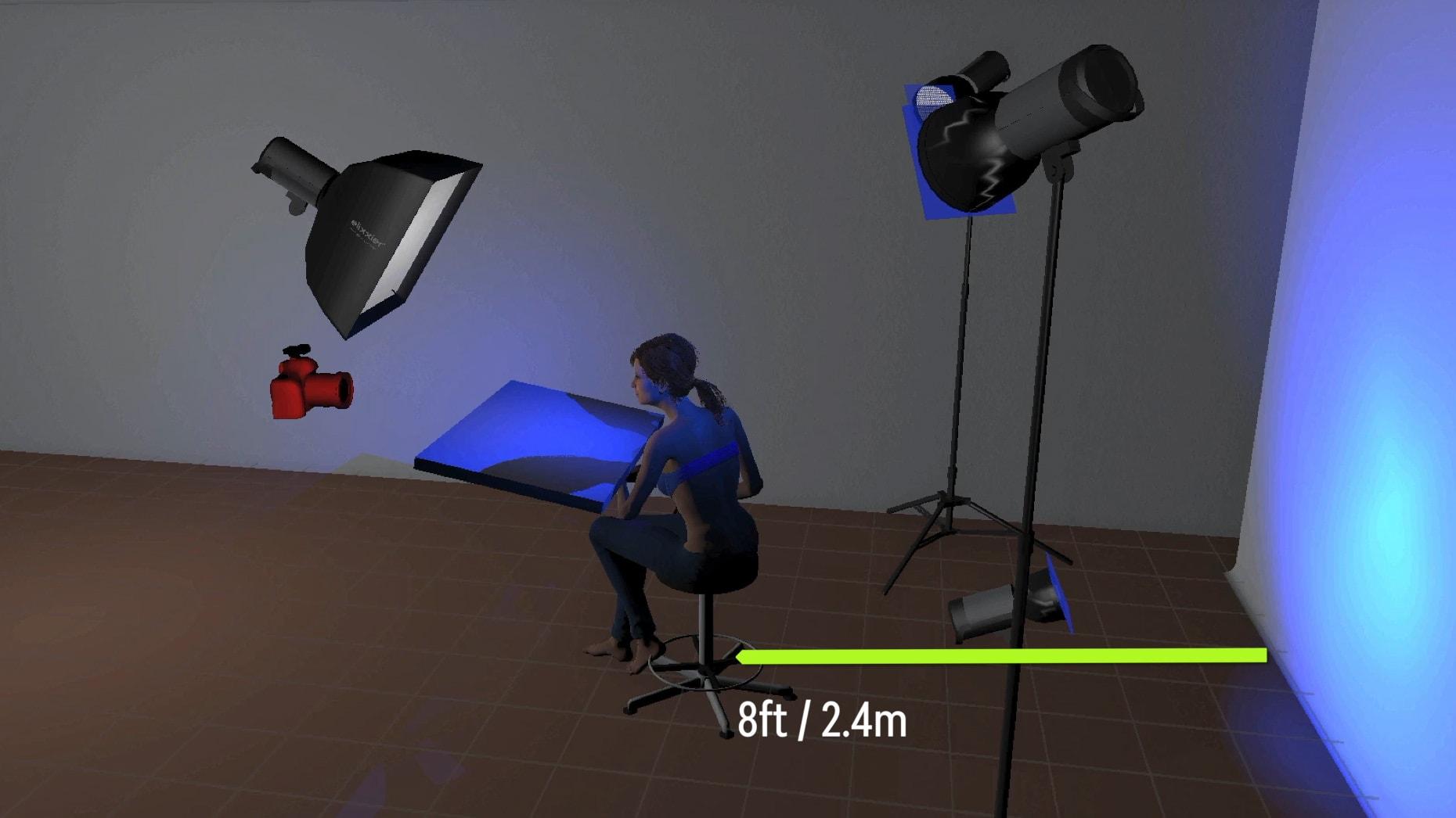 LightRoom digital rendering of setup