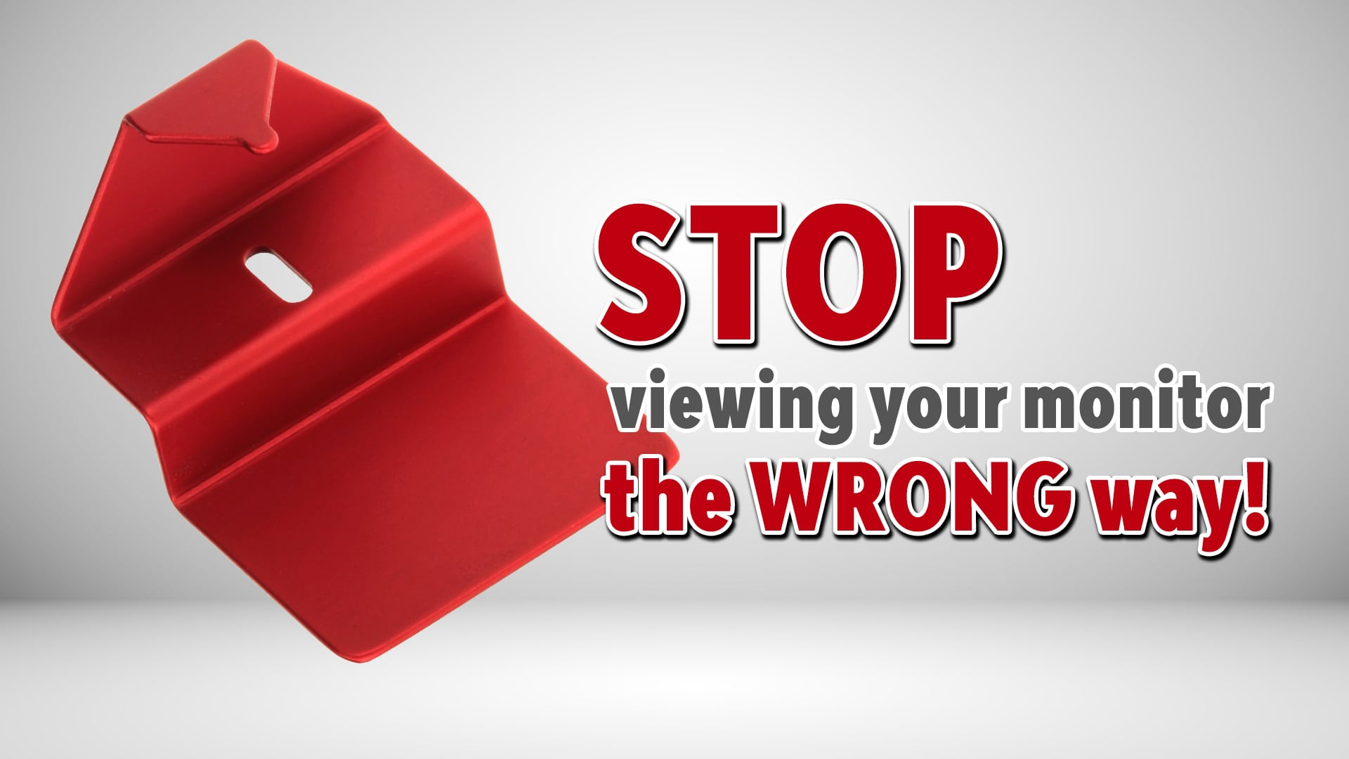 Photo of Monitor Viewing Angle Gauge – STOP using your monitor the WRONG way!