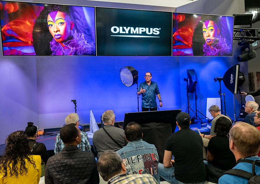 Talking about the Olympus OM-D E-M1X at WPPI 2019