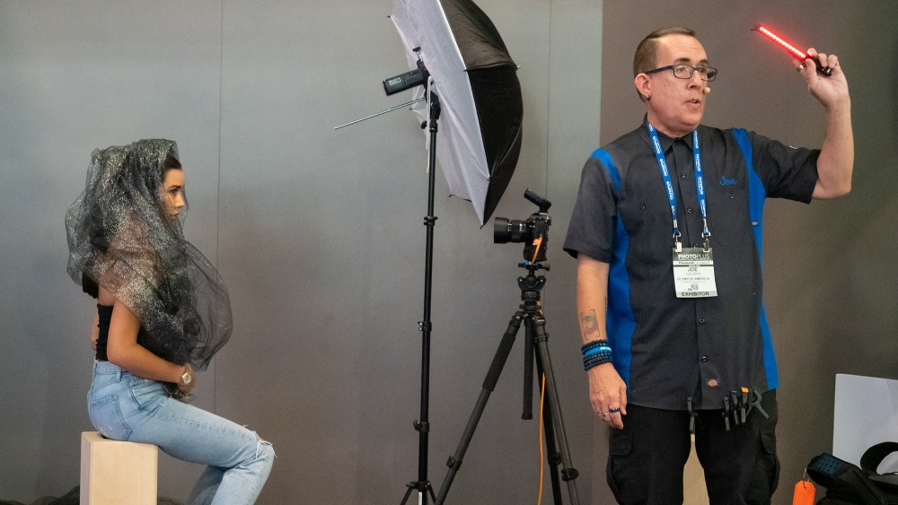 Presenting on the Olympus stage at the PhotoPlus Expo 2019