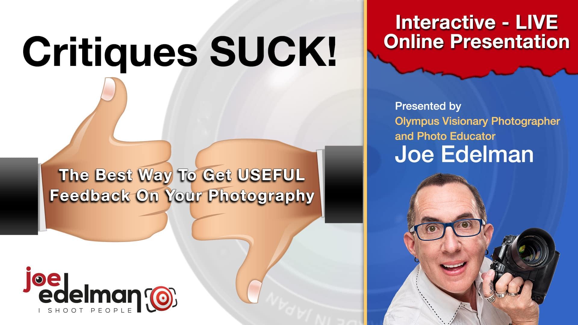 Photo of Critiques Suck!