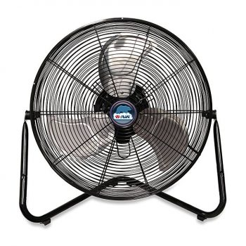 High velocity 20 inch floor fan