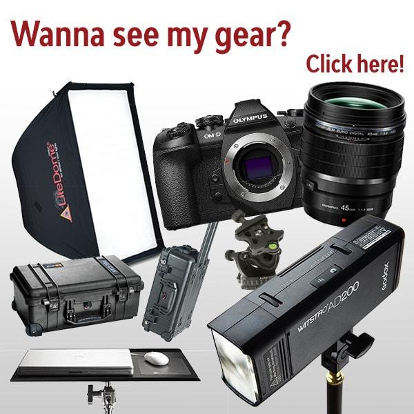 Wanna see my photography gear?